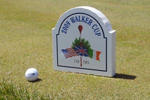 printed laminated dimentional signfoam golf tee marker