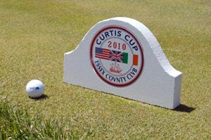 laminated routed sample golf tee marker
