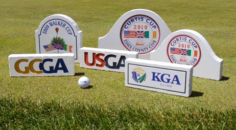GOLF tee box markers