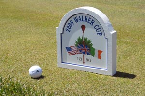 golf tee marker sign routed sign foam